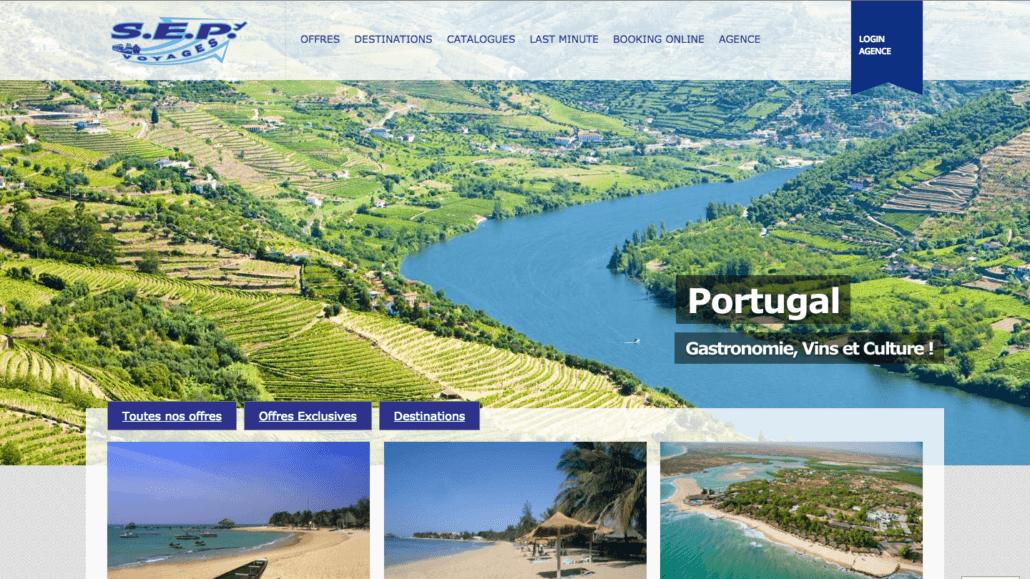 Le nouveau site de SEP Voyages Sàrl