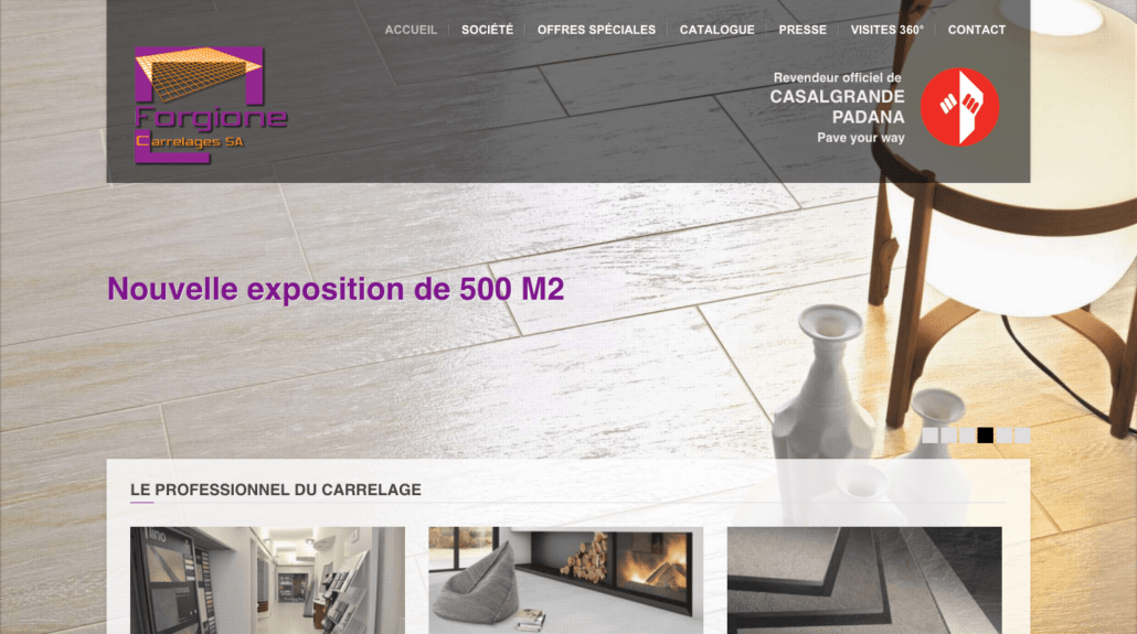 Preview site Forgion Carrelages